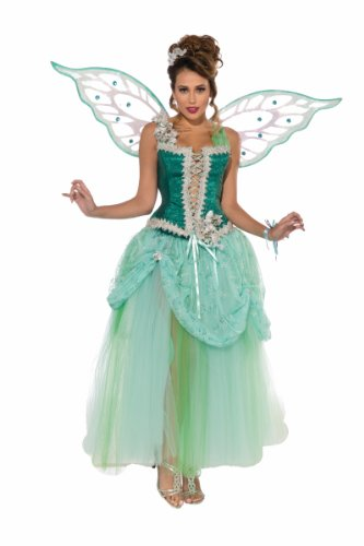 [Forum Novelties Women's Deluxe Designer Collection Emerald Fairy Costume, Green, Standard] (Fairy Halloween Costumes For Adults)