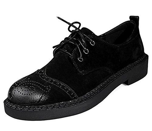 Brogue 35To42 Taille Bureau carrière et Suède Martin Black Chaussures pour Lacer femmes q0RffF