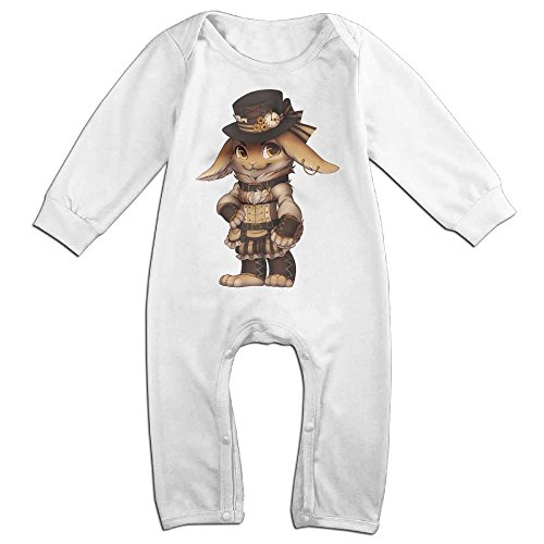 Baby Infant Romper Steampunk Rabbit Long Sleeve Jumpsuit Costume White 18 Months (Steampunk Snow White Costume)