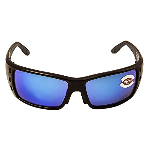 Costa Del Mar Permit 580G Permit, Matte Black Global Fit Blue Mirror, Blue - 580g Permit Costa