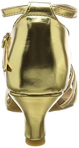 Amurleopard - Zapato de mujer (tacón de 5 cm) Oro
