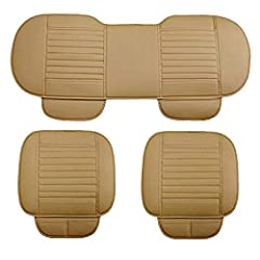 D-Lumina Premium Waterproof Car Seat Cushions Cover 1:High quality PU leather material and personality design for front motor vehicle seat cover cushion pad have 2 pockets, it is an excellent choice for your automotive seat! 2:When your child...