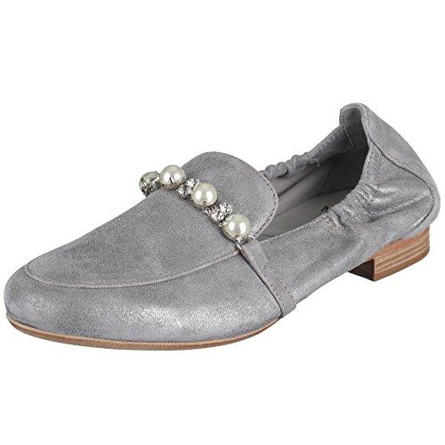 Maripé Slipper in Grau/Silber mp-26550-168348 Grau/Silber