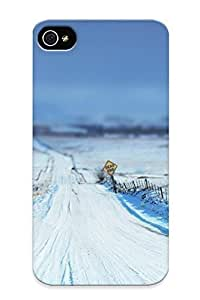 Cute High Quality Iphone 4/4s Dead End On The Snowy Road Case Provided By Honeyhoney Kimberly Kurzendoerfer