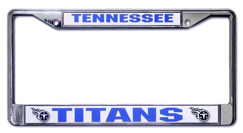 Rico Industries Tennessee Titans Chrome License Plate Frame