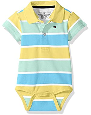 Tommy Hilfiger Baby Boys' Short Sleeve Striped Shaun Bodysuit
