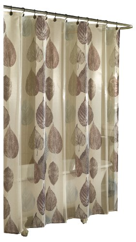 excell home fashions gossamer leaf fabric shower curtain natural
