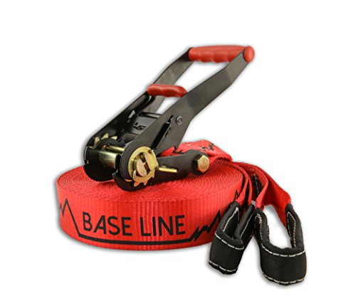 Slackline Industries Baseline Slackline, Red, 50-Feet by Slackline Industries