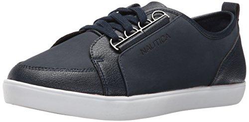 Nautica Women's Lubec Fashion Sneaker, Navy, 7.5 M US