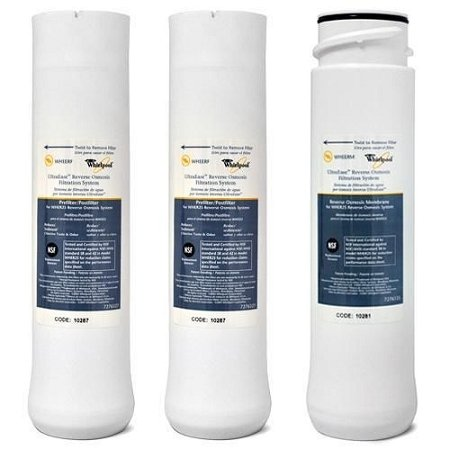 Whirlpool WHER25 & Kenmore UltraFilter 450/650 R.O. Pre & Post Filters w/Membrane SET by Whirlpool