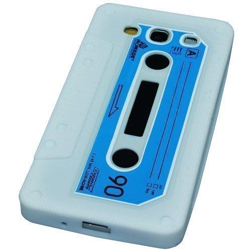 Avcibase 4260344983186 Retro Tape Kassetten Design TPU Schutzhülle für Samsung Galaxy S3 i9300 weiß