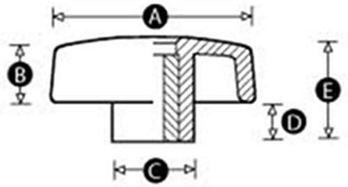 Bohrer R/ändelschraube S/äge M10-Fl/ügelmutter-Knauf Fr/äser oben offen Messing
