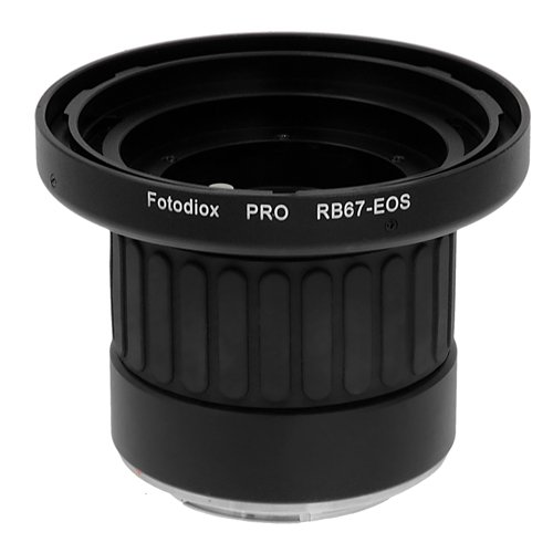 Fotodiox Pro Lens Adapter w/ Focus Confirmation Chip & Focusing Barrel, Mamiya RB67 Lens to Canon EOS Camera by Fotodiox