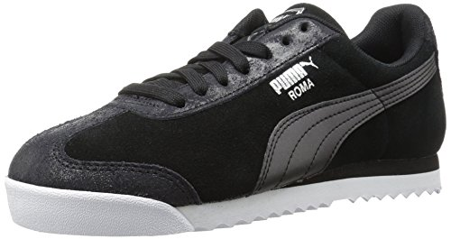 PUMA Womens Roma Classic Met Safari Wn Sneaker, Puma Black-Puma Black, 9.5 M US