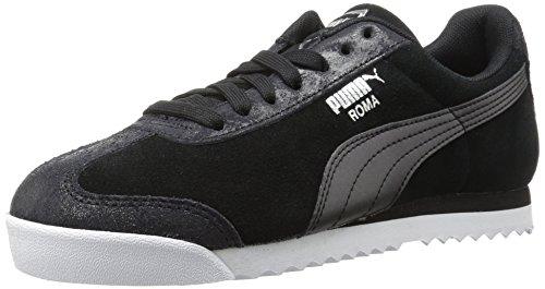 (PUMA Women's Roma Classic Met Safari Wn Sneaker, Black, 8.5 M US)