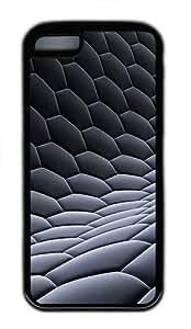 iPhone 5C Case Cover - 3D Visual Design TPU Case Cover For iPhone 5C - Black