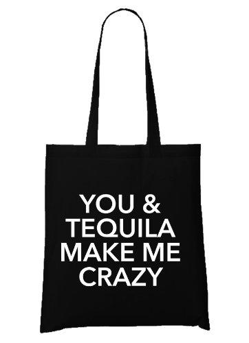 Me Crazy Tequila Bolsa Negro Make You amp; tw14qxI1P6