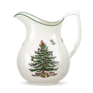 Spode Christmas Tree Pitcher 49 Ounce Carafes Pitchers
