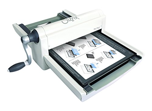 Sizzix Big Shot Pro Manual Cutting and Embossing Machine with Standard Accessories, Crease Pad Mylar Shims and Die Pick, 13 in (33 cm) Opening, Extended