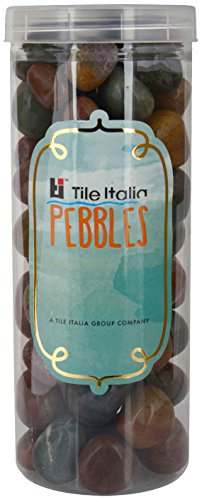 Tile Italia Pebbles Exotic Indian Fancy Polished Pebbles PP012 1 Kg - Multi Colour