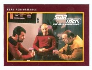 Star Trek The Next Generation card #172 Peak Performance Picard Patrick Stewart Riker Jonathan Frakes