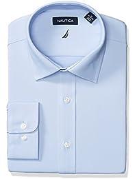 Men's Non-Iron Tech Classic Fit Spread Collar Solid Dress...