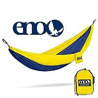 ENO - Hamaca DoubleNest de Outletters de Eagles Nest Outfitters, hamaca portátil para dos personas, zafiro /amarillo