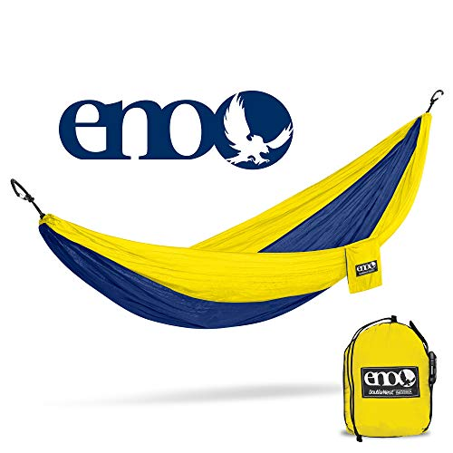 ENO – Eagles Nest Outfitters DoubleNest Hammock, Portable Hammock for Two, Sapphire Yellow