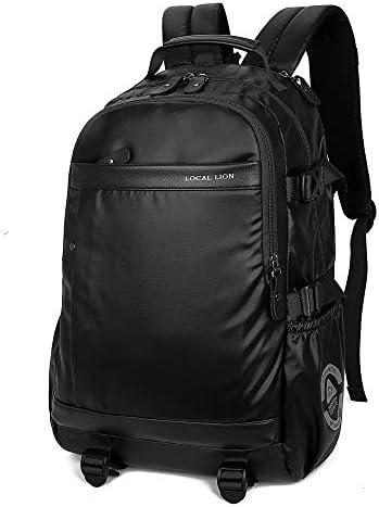 サイクリングバックパック 調節可能ストラップ25Lバックパック防水通気性スポーツキャンプハイキングトレッキングバックサポート&クッション (Color : Black, Size : 45*31*16cm)