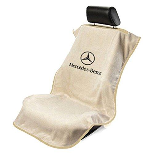 Seat Armour SA100MBZT Tan 'Mercedes Benz' Seat Protector - Towel Logo