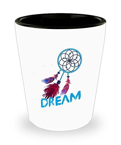 Dream Catcher Feathers Drinking Shot Glass - Dream Catcher Shot Glass