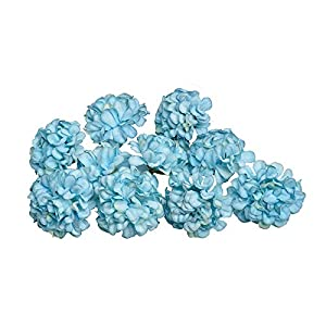 CoronationSun - Fake Flower - 10pcs/lot 4.5cm Artificial Silk Hydrangea Flower Heads for Wedding Decoration Wreath 92