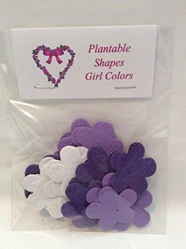 Bag of 24 Plantable Lav/Purple/White Flowers ()