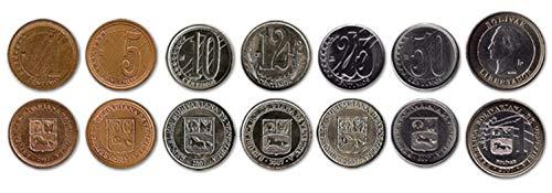 Venezuela 7 Coins Set 2007 UNC 1 centimo - 1 Bolivar Collectible Coins to Your Coins Album, Coin Holders OR Coin Collection