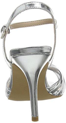 Dorothy Perkins Spiral High Heel - Sandalias con tacón para Mujer Multicolour (Silver)