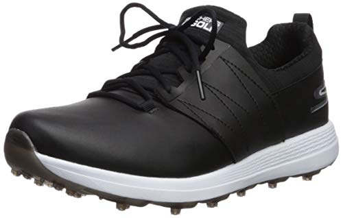 Ladies Eagle - Skechers Women's Eagle Spikeless Golf Shoe, Black/White 9 M US