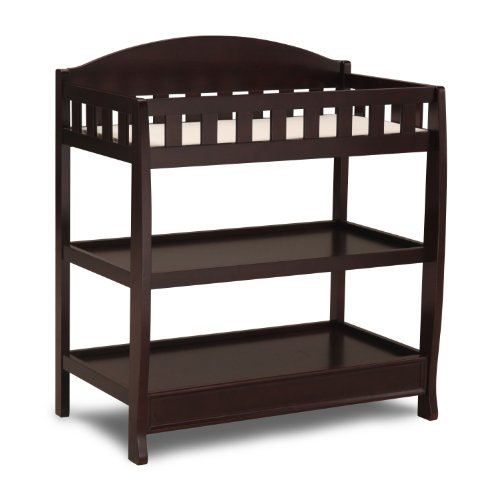 Lowest Prices! Delta Children Infant Changing Table with Pad, Dark Chocolate