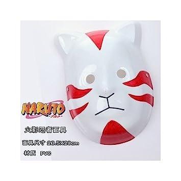 Naruto Shippuden cosplay Anbu Máscara de estilo del gato Itachi rojo: Amazon.es: Juguetes y juegos