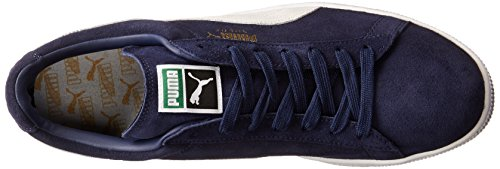 PUMA Men's Suede Classic + Sneaker, Peacoat/White, 9 M US Photo #9