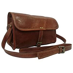 Madosh, Genuine Goat Leather Gym Duffle Shoulder Bag Mens Crossbody Holdall