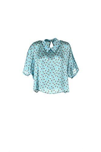 Camicia Donna Berna L Celeste Be-69537 Primavera Estate 2017