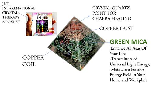 - Jet International Green Aventurine Chakra Orgone Pyramid Free Crystal Therapy
