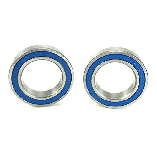20x32x7mm Precision Ball Bearings ABEC 3 Blue Rubber Seals (2) (Ball Bearing Blue)