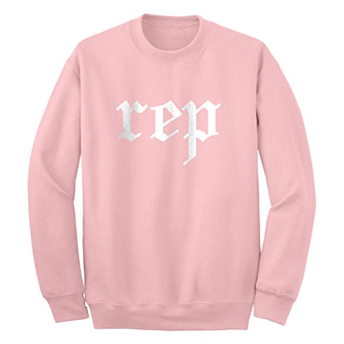 Indica Plateau Crew Rep Medium Light Pink Sweatshirt (Nicki Minaj Clothes For Girls)