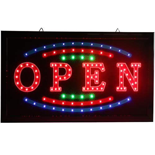Open Led Neon Sign,Window Sign,Business Sign,Store Sign, Shop Sign, Great for Bar, Coffee Shop, Snack Bar,Pizza Shop, Restaurant, Convenience Store, Nail Beauty Shop, Barber Shop, Ice Cream Shop.