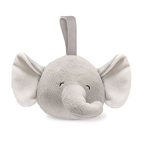 - Carter's Plush Infant Soother with White Noise Elephant, Grey/White