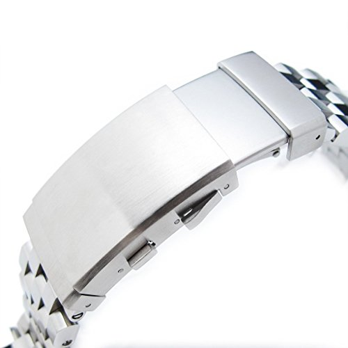 22mm Super Engineer II Straight End Watch Bracelet, Universal 1.8mm SpringBar, Ratchet Buckle by Metal Band by MiLTAT (Image #2)