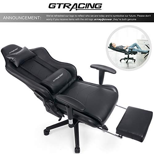 GTRACING Gaming Chair with Footrest Racing Office Chair Heav