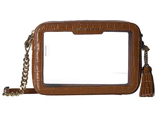 Michael Kors Medium Camera Crossbody Handbag in Chestnut Clear (Clear Michael Kors Handbags)