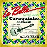 La Bella Cavaquinho Brazil Plain Steel/bronze Wnd 4 Strings
